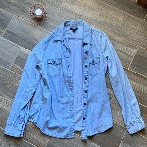 💫EUC💫 Anchor Print Denim Button Down Shirt